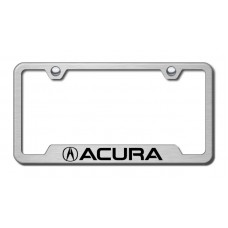 Acura Laser Etched Brushed Stainless Steel Cut-Out License Plate Frame