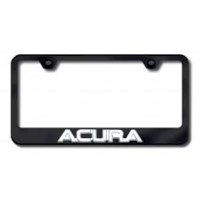 Acura 3D Chrome on Black Metal License Plate Frame