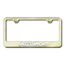 Acura 3D Chrome on Gold Metal License Plate Frame