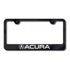 Acura Laser Etched Black License Plate Frame