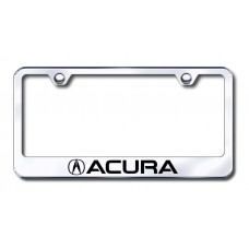 Acura Laser Etched Chrome Metal License Plate Frame