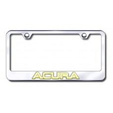 Acura 3D Gold on Chrome Metal License Plate Frame