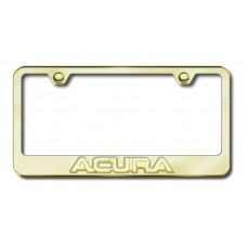 Acura 3D Gold on Gold Metal License Plate Frame