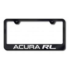 Acura RL Laser Etched Black License Plate Frame