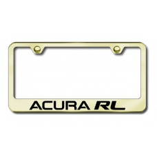 Acura RL Laser Etched Gold License Plate Frame