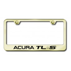 Acura TL Type S Laser Etched Gold License Plate Frame