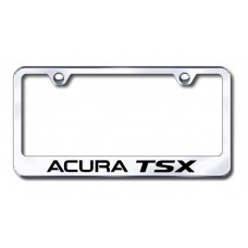 Acura TSX Laser Etched Chrome License Plate Frame