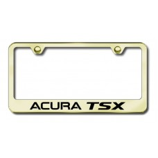 Acura TSX Laser Etched Gold License Plate Frame