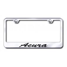 Acura Script Laser Etched Chrome License Plate Frame