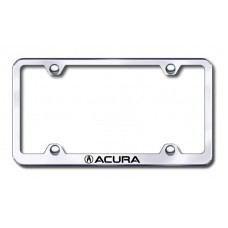 Acura Wide Body Laser Etched Chrome Metal License Plate Frame