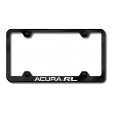 Acura RL Wide Body Laser Etched Black License Plate Frame