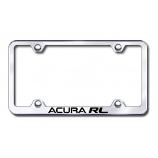 Acura RL Wide Body Laser Etched Chrome Metal License Plate Frame