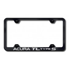 Acura TL S Wide Body Laser Etched Black License Plate Frame