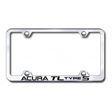Acura TL S Wide Body Laser Etched Chrome License Plate Frame
