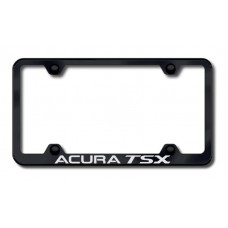 Acura TSX Wide Body Laser Etched Black License Plate Frame