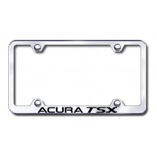 Acura TSX Wide Body Laser Etched Metal Chrome License Plate Frame