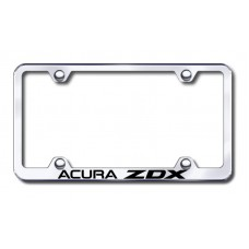 Acura ZDX Wide Body Laser Etched Chrome Metal License Plate Frame