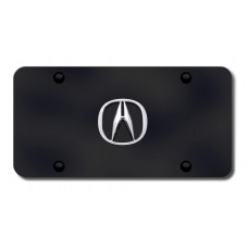 Acura Chrome Logo on Black License Plate