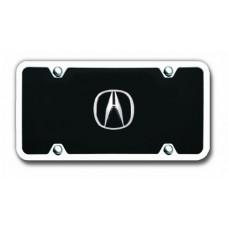 Acura Chrome Logo on Black License Plate Kit