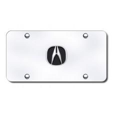 Acura Chrome Logo on Chrome License Plate