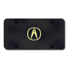 Acura Gold Logo on Black License Plate