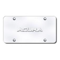 Acura Name Chrome on Chrome License Plate