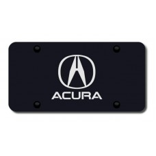 Acura Laser Etched on Black License Plate