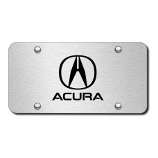 Acura Laser Etched on Brushed Stainless Steel License Plate