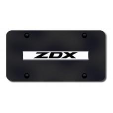 ZDX Name Chrome on Black License Plate