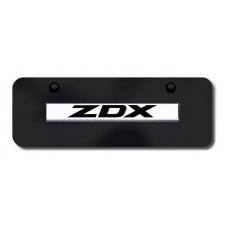 ZDX Name Chrome on Black Mini License Plate