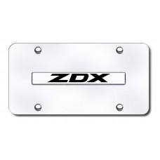 ZDX Name Chrome on Chrome License Plate