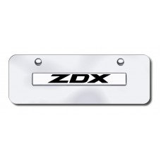 ZDX Name Chrome on Chrome Mini License Plate