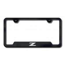 Z Laser Etched Black Cut-Out License Plate Frame