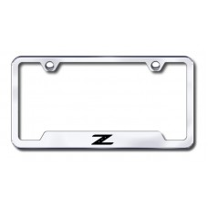 Z Laser Etched Chrome Cut-Out License Plate Frame