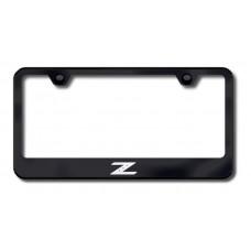 Z Laser Etched Black License Plate Frame
