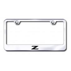 Z Laser Etched Chrome License Plate Frame