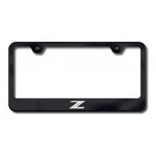 Z (New) Laser Etched Black License Plate Frame