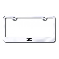 Z (New) Laser Etched Chrome License Plate Frame