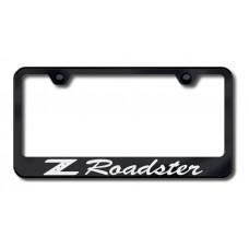 Z Roadster Laser Etched Black License Plate Frame