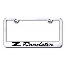 Z Roadster Laser Etched Chrome License Plate Frame