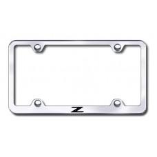 Z Wide Body Laser Etched Chrome Metal License Plate Frame