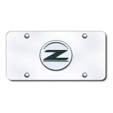 Z Logo Chrome on Chrome License Plate