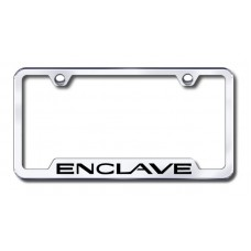 Enclave Laser Etched Chrome Cut-out License Plate Frame