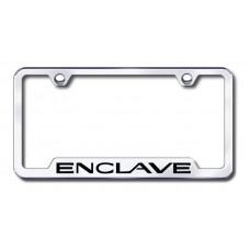 Enclave Laser Etched Chrome Cut-out License Plate Frame