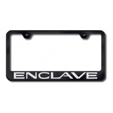 Enclave Laser Etched Black License Plate Frame
