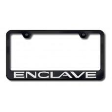 Enclave Laser Etched Black License Plate Frame