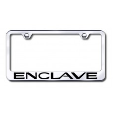 Enclave Laser Etched Chrome License Plate Frame
