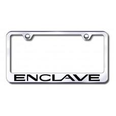 Enclave Laser Etched Chrome License Plate Frame
