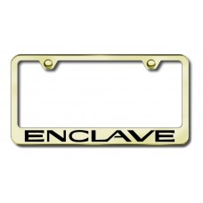 Enclave Laser Etched Gold License Plate Frame