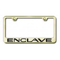 Enclave Laser Etched Gold License Plate Frame